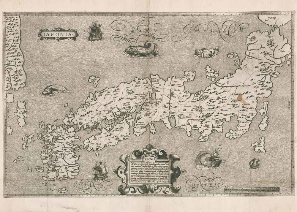 Map of Japan, Christopher Blancus and Inacio Moreira, 1617, Jason C. Hubbard Collection
