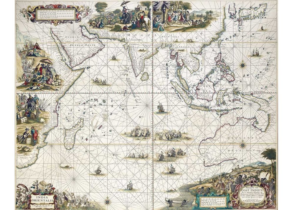 Map of the Indian Ocean, Hendrik Doncker, 1664, Jason C. Hubbard Collection
