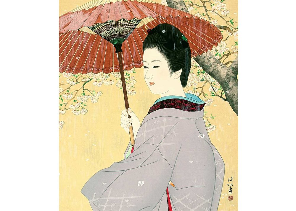 © Shinsui Ito, Spring Rain, 1966