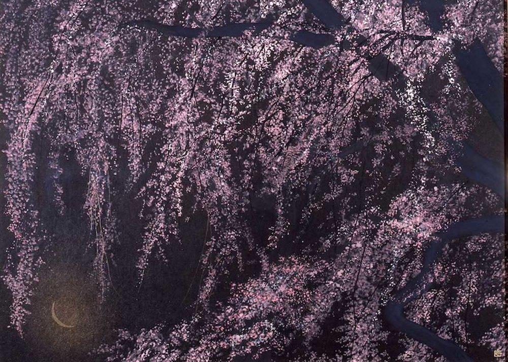 © Senju Hiroshi, Cherry Blossoms in the Dark