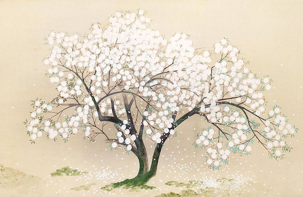 © Kokei Kobayashi, Cherry Tree at the Graves of Anchin and Lady Kiyohime, 1930