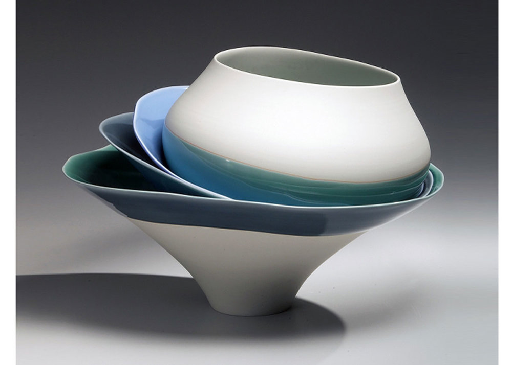 ©Fuku Fukumoto, Lunar Forms, 2013,  Joan B Mirviss Gallery