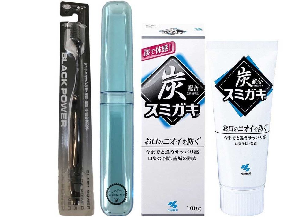 Bamboo Charcoal Toothbrush Set