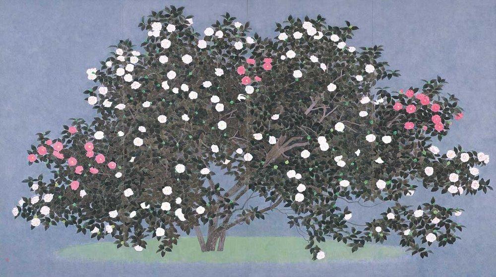 © Nobuyoshi Watanabe, Five-colored Camellia, 2003