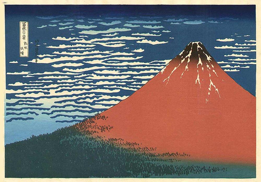 Asakusa Hongan-ji in the Eastern Capital, Katsushika Hokusai