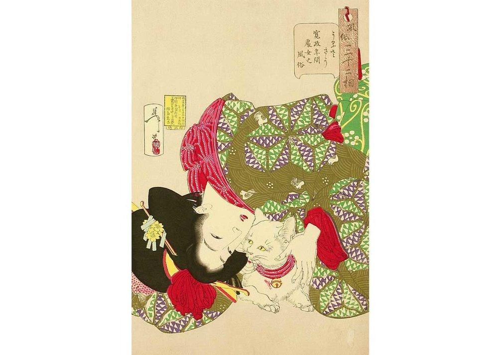 Tiresome, Woodblock Print by Tsukioka Yoshitoshi, 1888