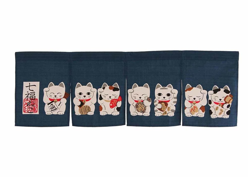 Manekineko Noren Curtain by Narumi