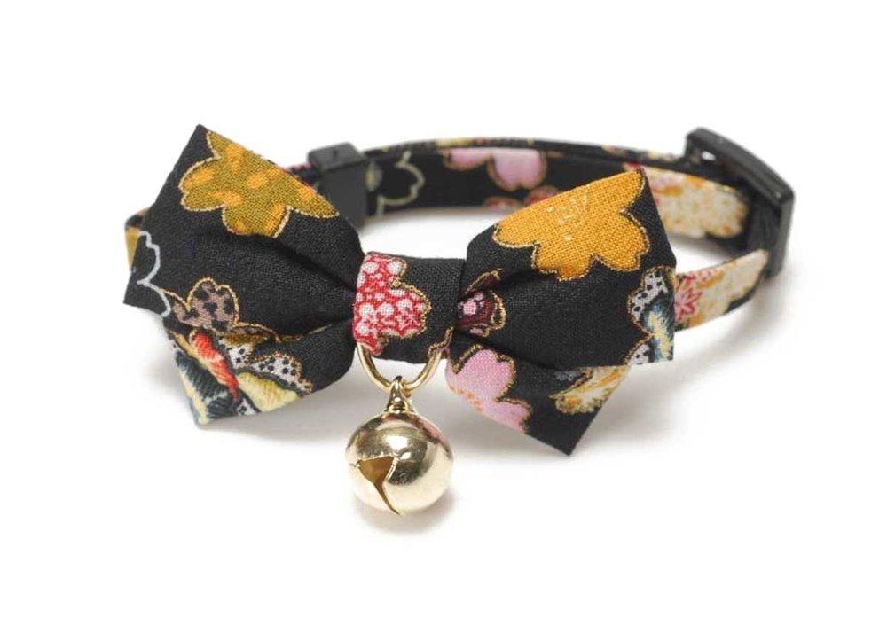 Kimono Bow Tie Cat Collar by Necoichi