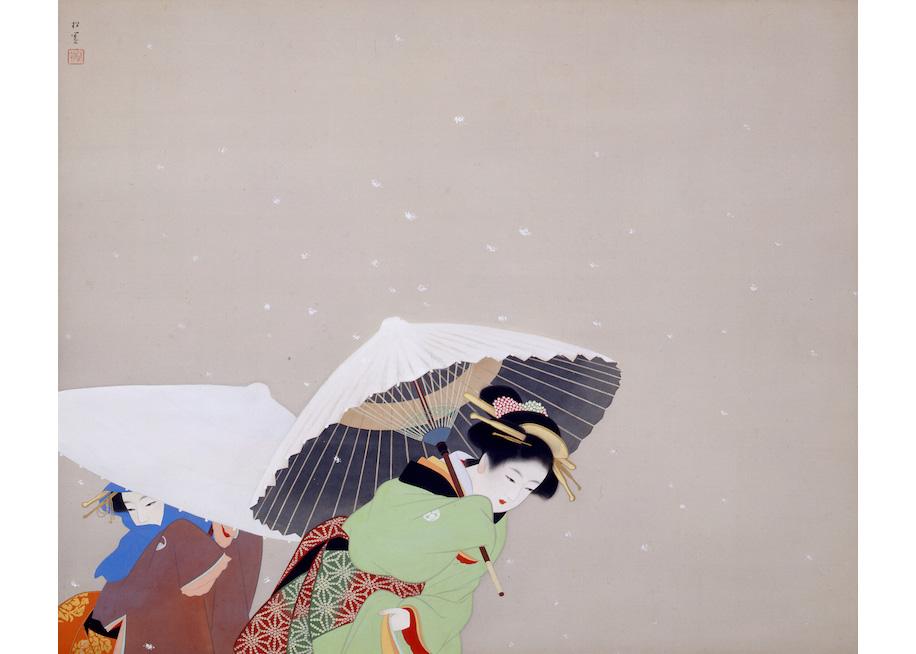 © Shoen Uemura, Feathered Snow, 1944,  Yamatane Museum of Art