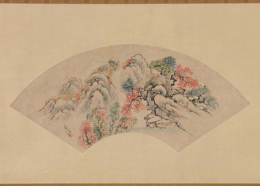 Autumnal Landscape by Ike Gyokuran, 18th Century,  Met Museum