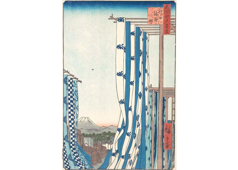 Utagawa Hiroshige, Dye House at Konya-Cho, 1857,  Met Museum
