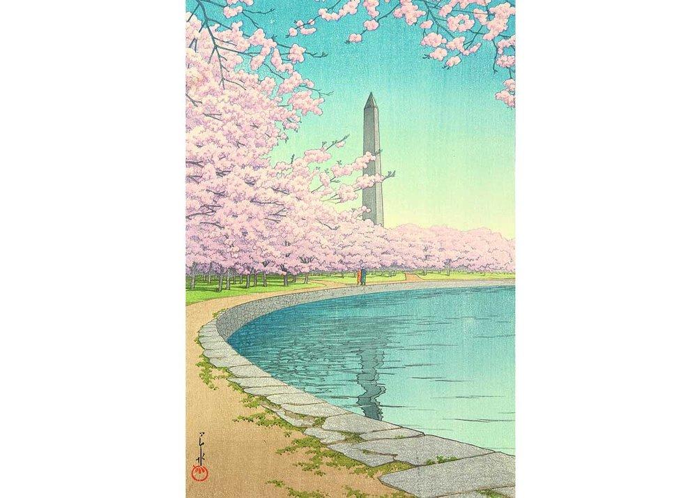 © Hasui Kawase, Washington Monument, 1935