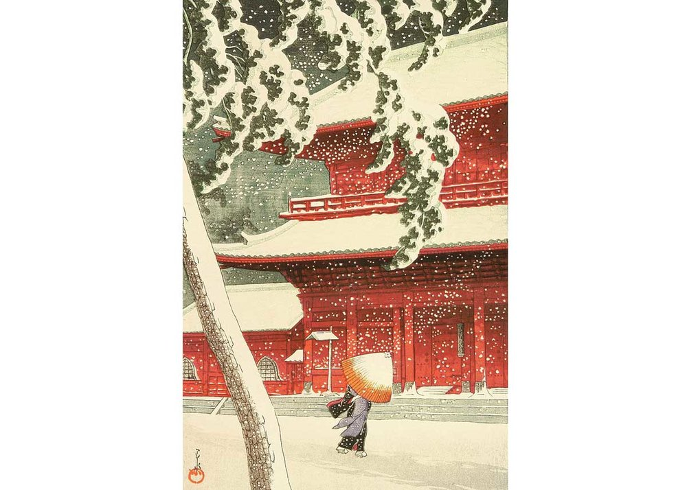 © Hasui Kawase, Shiba Zojo Temple, 1925