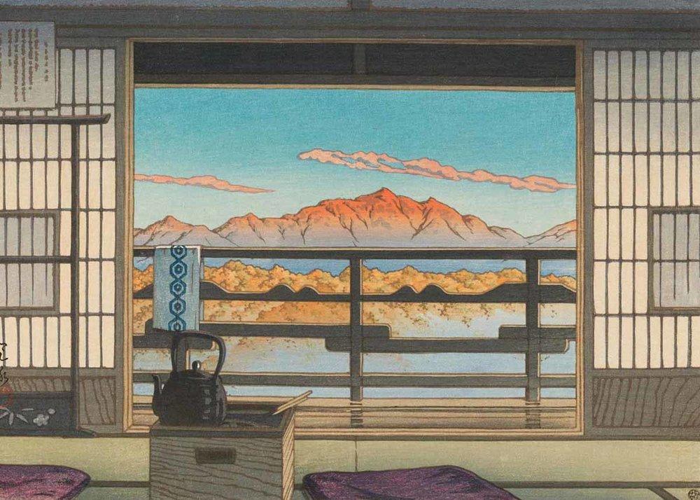 ©Hasui Kawase, Morning at Hot Spring Resort in Arayu, 1946
