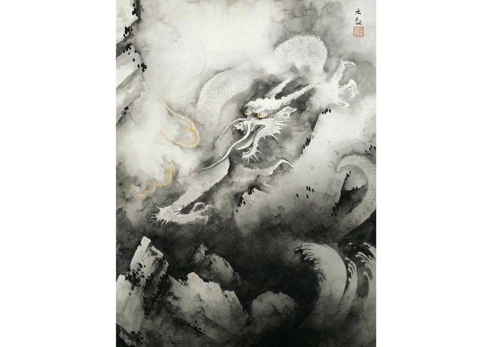 © Yokoyama Taikan, Dragon and Clouds