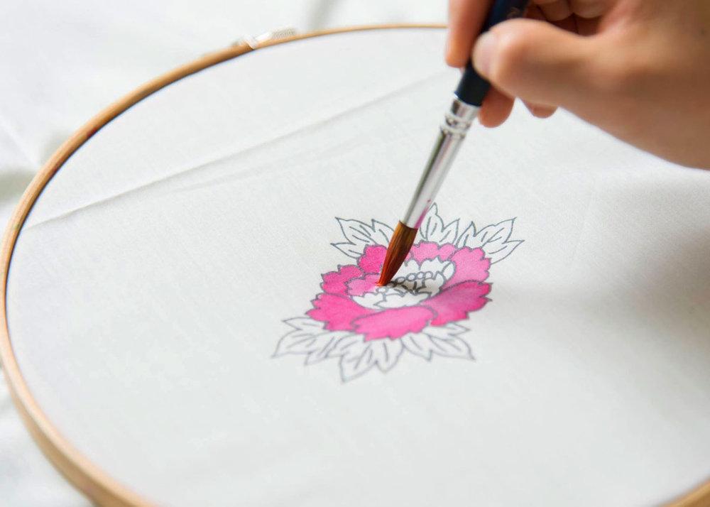 ©  Kaga Yuzen Kimono Center , Initial Pattern