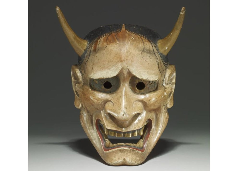 Hannya Noh Mask, 18th Century,  British Museum