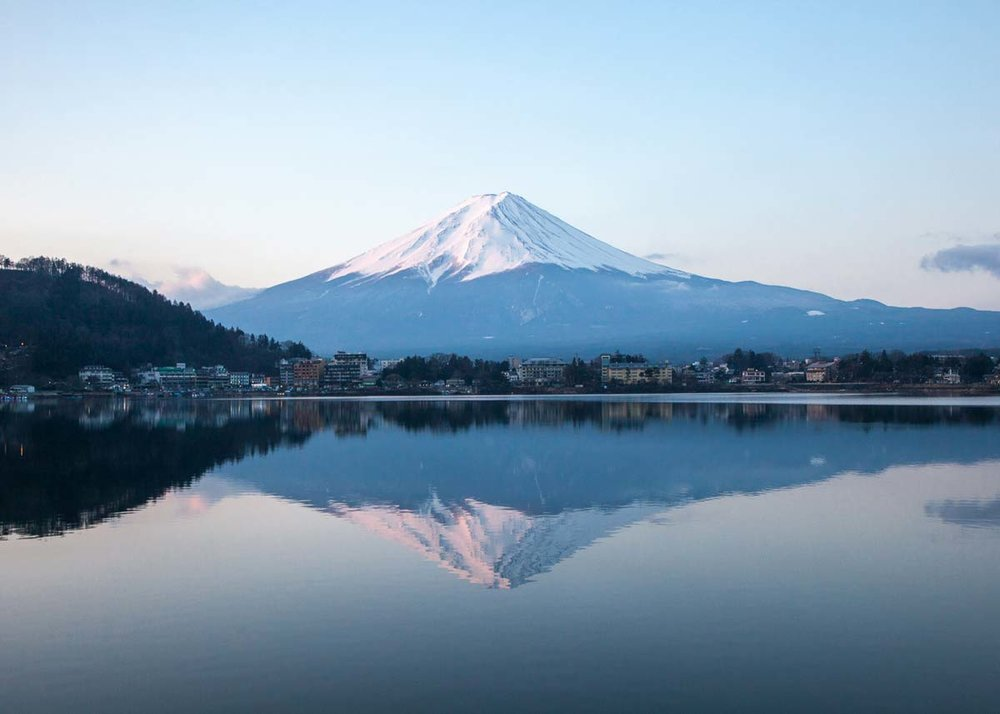 ©  David Hsu  /  Creative Commons , Mount Fuji across Lake Kawaguchi