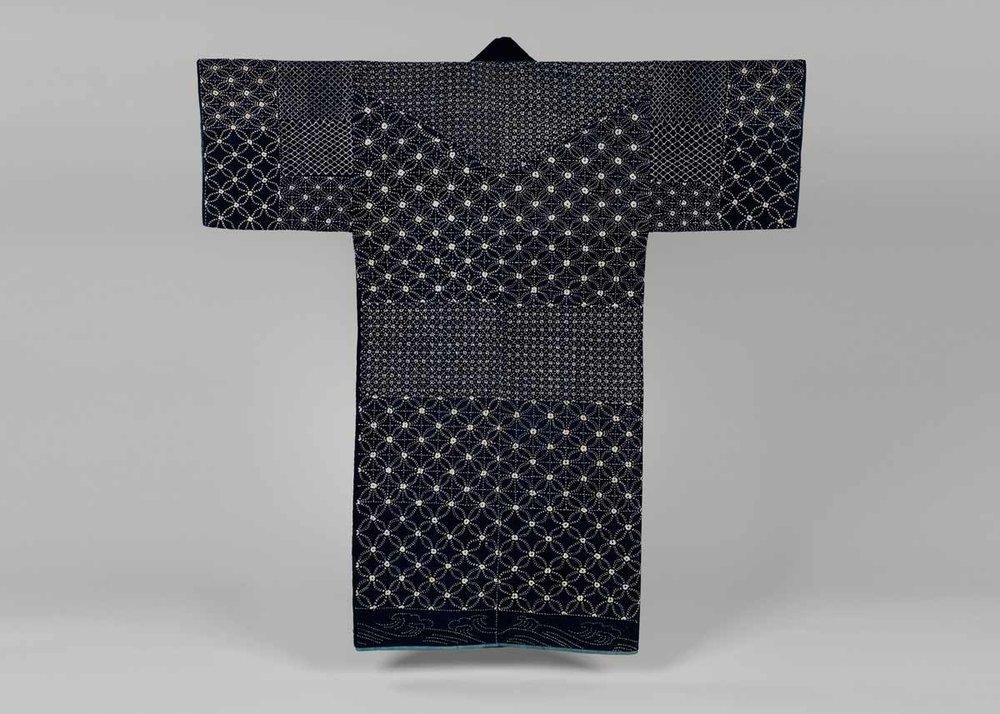 Indigo-Dyed Sashiko Jacket, Early 19th Century,  Met Museum