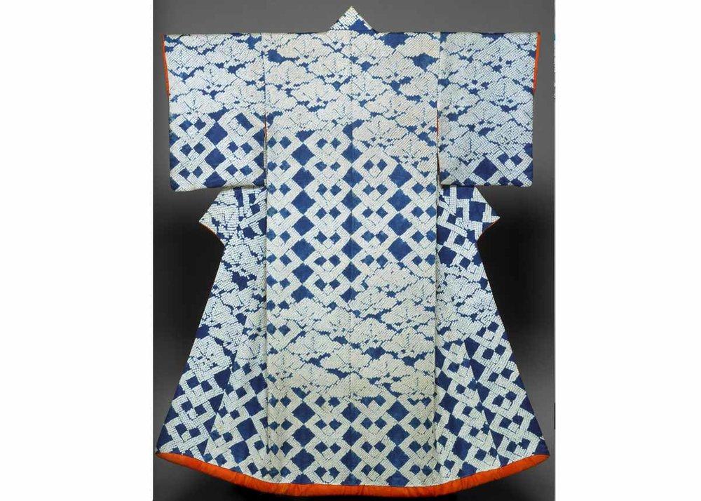 Shibori Dyed Kosode Kimono,  Met Museum