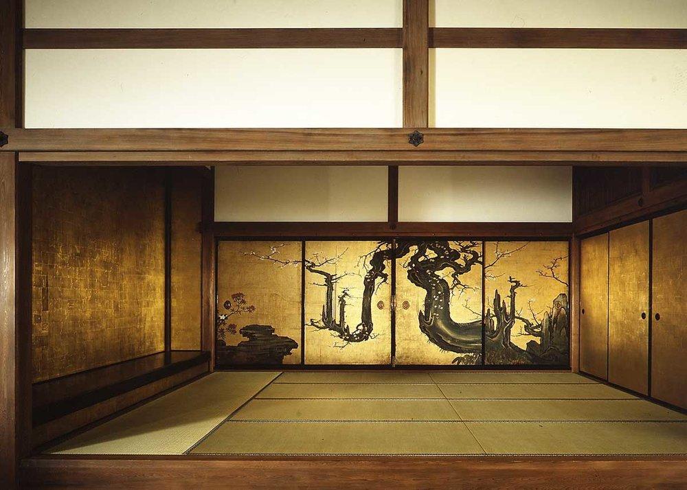 Old Plum, Kano Sansetsu, 1646,  Met Museum