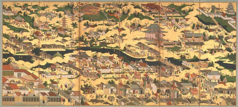 Scenes in and around the Capital, 17th Century,  Met Museum