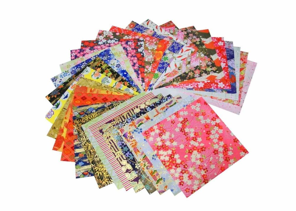 Yuzen Kimono Pattern Origami Paper Available at Amazon