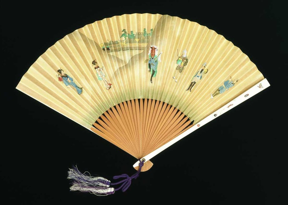 19th Century Japanese Fan, made for export,  V&A Museum