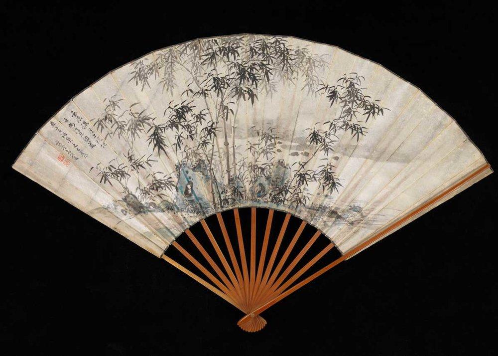 Folding Fan by Takaku Aigai, 1832,  The Met Museum
