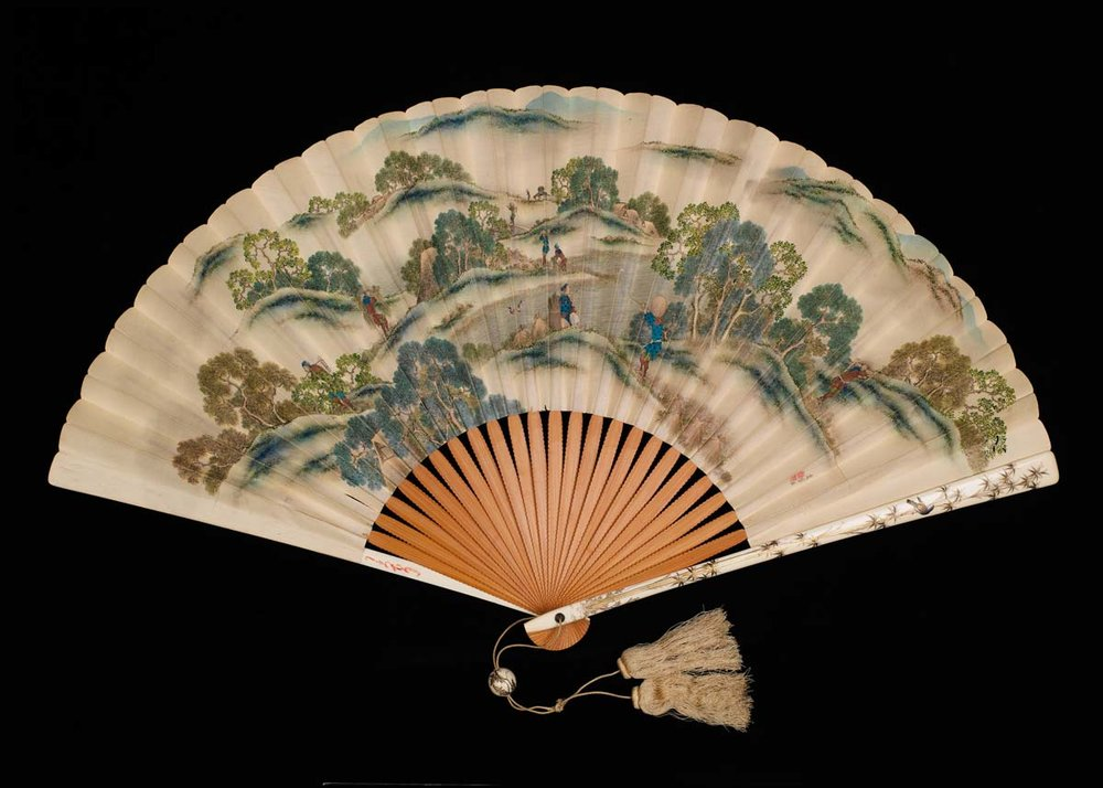 Folding Fan by Katsushika Isai, 19th Century,  The Met Museum