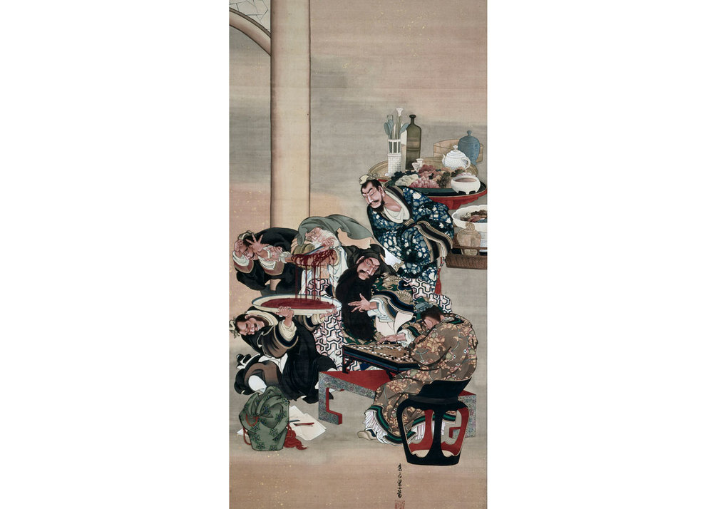 Hua Tuo Operating on the Arm of Guan Yu, by Katsushika Oi, 1840s