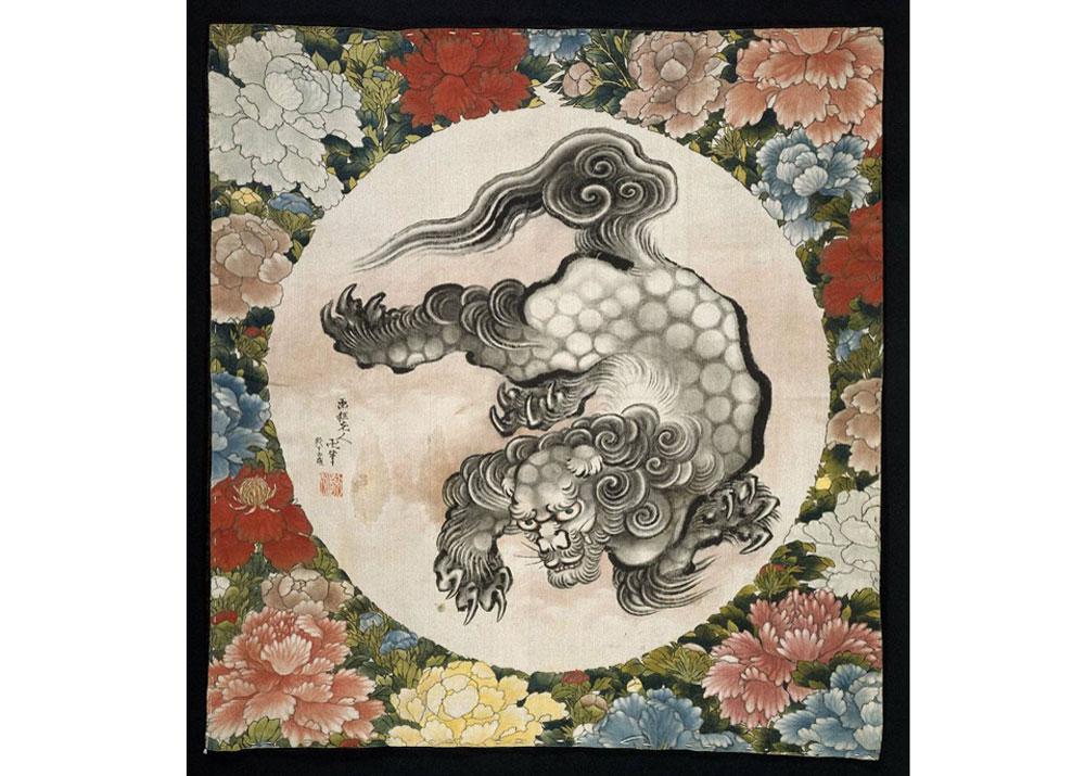 Print by Hokusai and Oi Katsushika