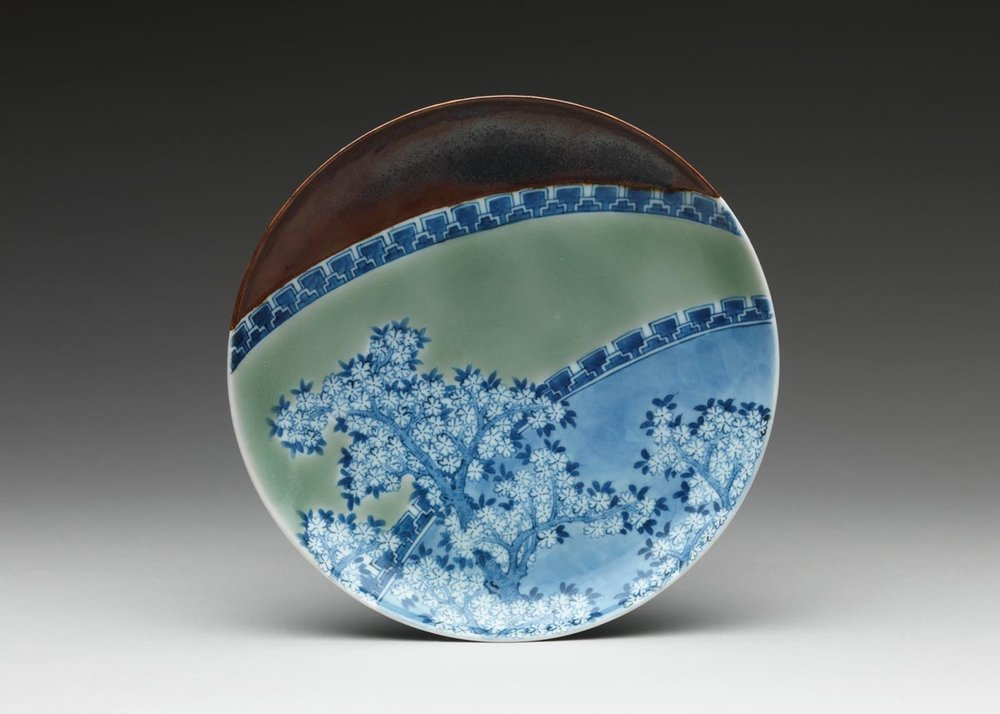 Nabeshima Dish with Cherry Blossoms, 17th Century,  The Met Museum