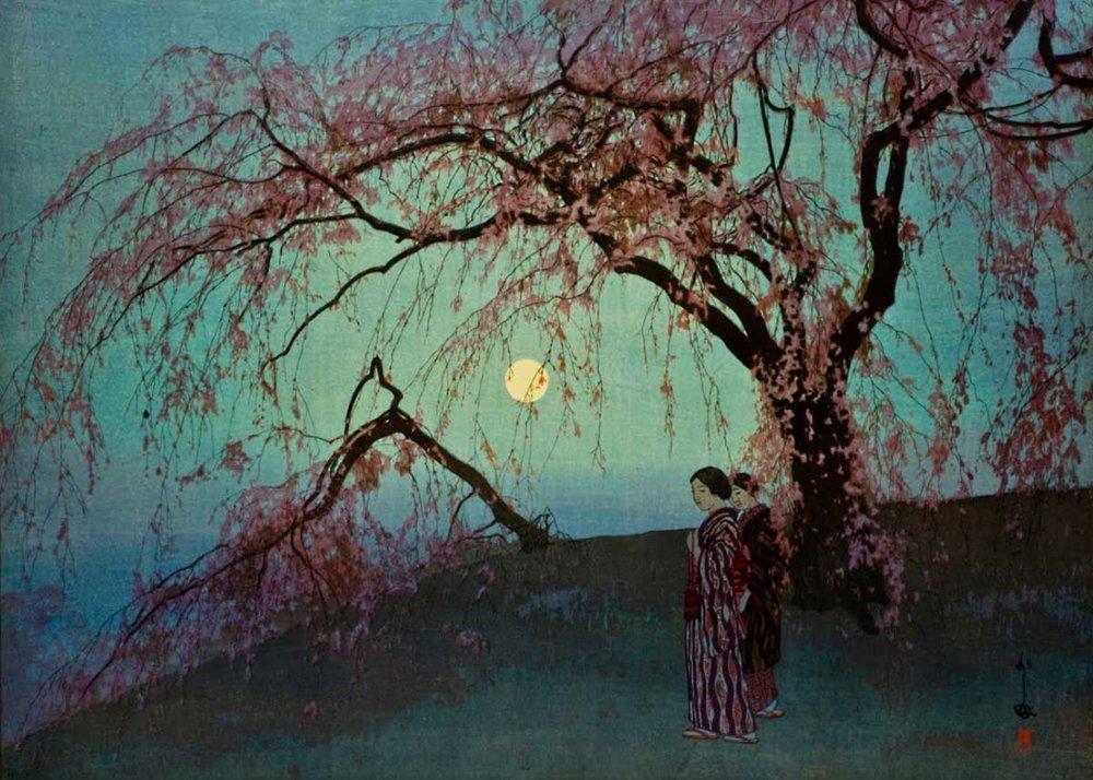 ©  Toledo Museum of Art , Hiroshi Yoshida, Kumoi Cherry Trees