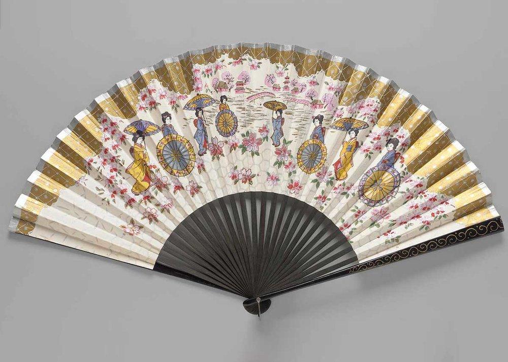 Hanami Folding Fan, Oldham Collection,  Museum of Fine Arts