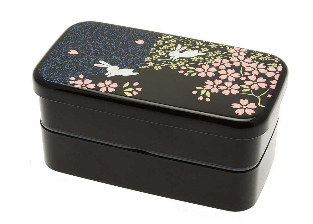 Rabbit and Cherry Blossom Bento Box by Kotobuki