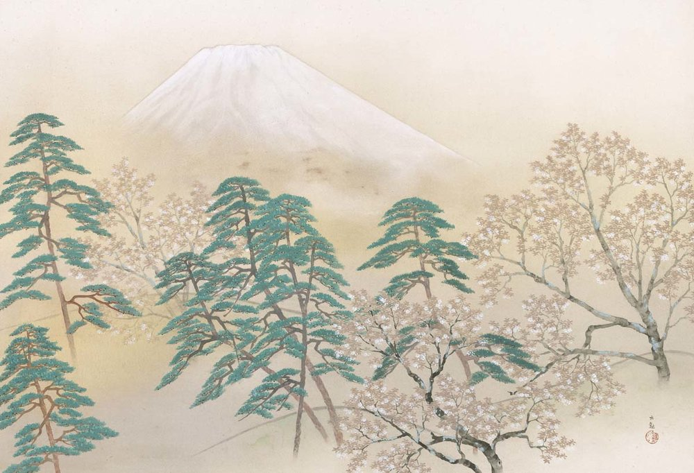 Spring from the Four Views of Mt. Fuji by Taikan Yokoyama, 1940, Museum of Modern Art, Ibaraki