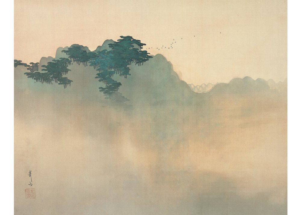 Morning at Izura by Buzan Kimura, 1906-07, Museum of Modern Art, Ibaraki
