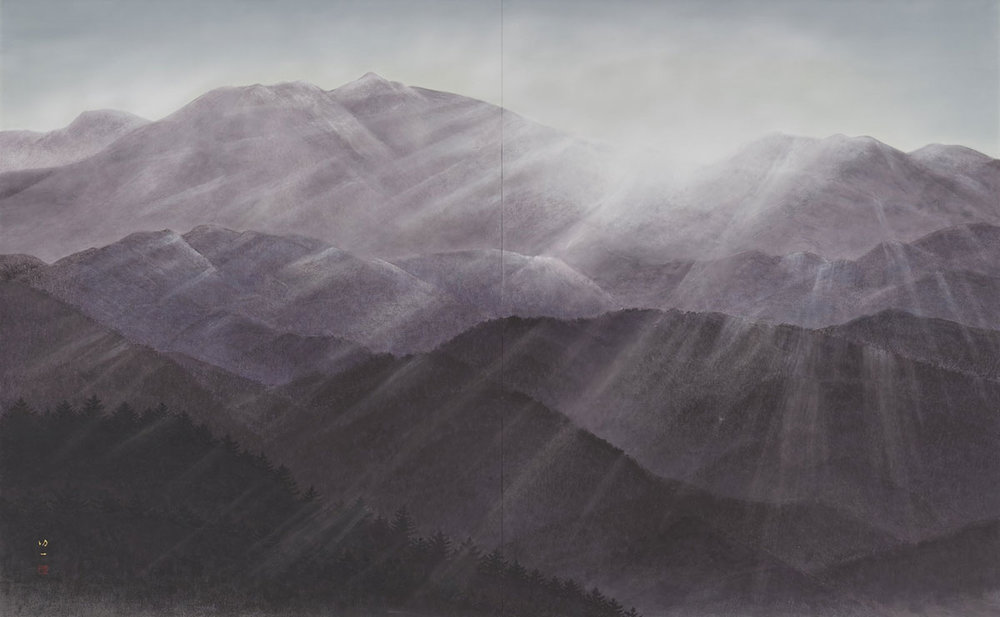 Morning Mountain Range by Koichi Nabatame © 2018 Japan Art Institute.