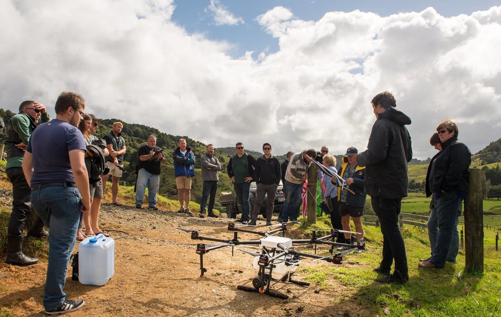 Our team will talk you through the features of the Agras MG-1S. Photo from our previous Agras Demo Day in Puhoi.