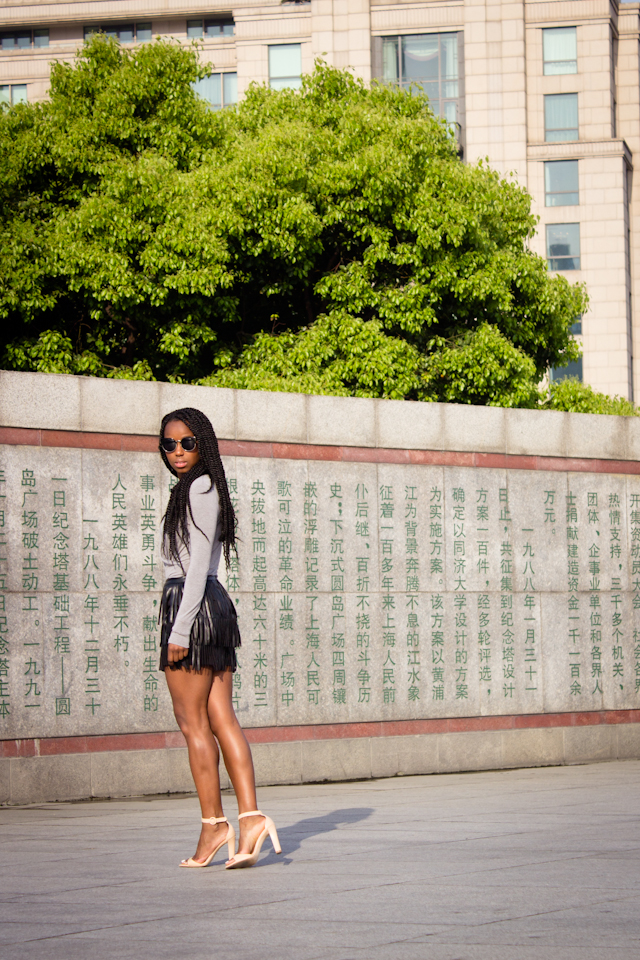 shanghai-the-bund-fringe-leather-hm-skirt (2 of 7)