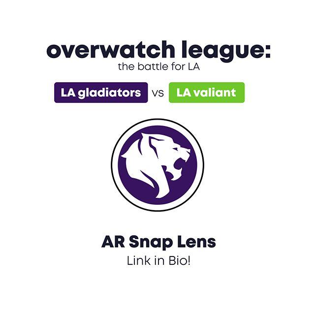 Shields Up! We made this AR snap lens for LA @overwatchleague team, @lagladiators !! #overwatch #shieldsup #battleforla #ar #snapchatlenses