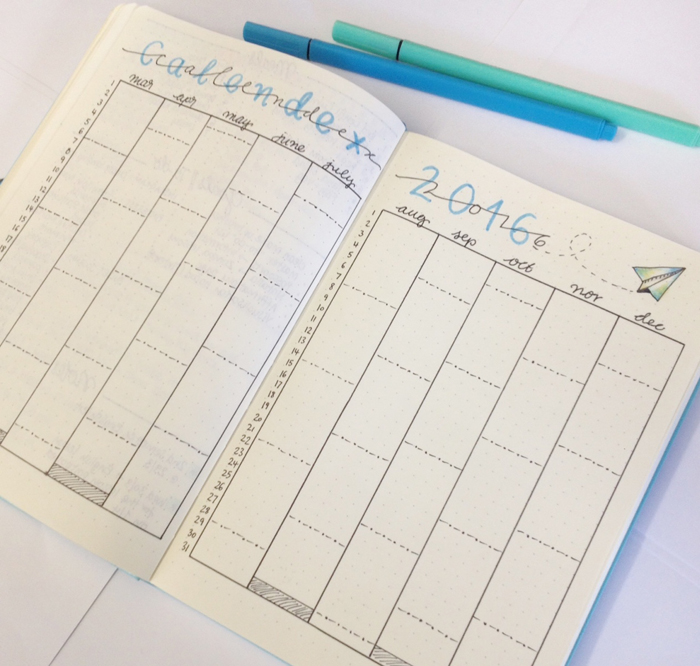 Introducing Calendex as a way for future planning with your bullet journal.