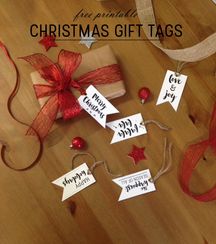 Free printable Christmas gift tags by christina77star.co.uk