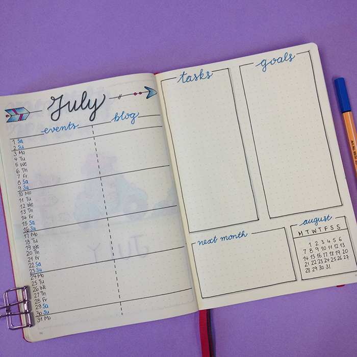 Month at a glance 2 - July Setup in my Bullet Journal.jpg