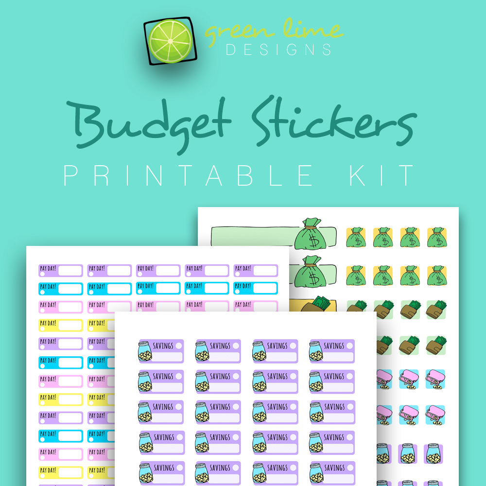 Budget Stickers - Printable Kit