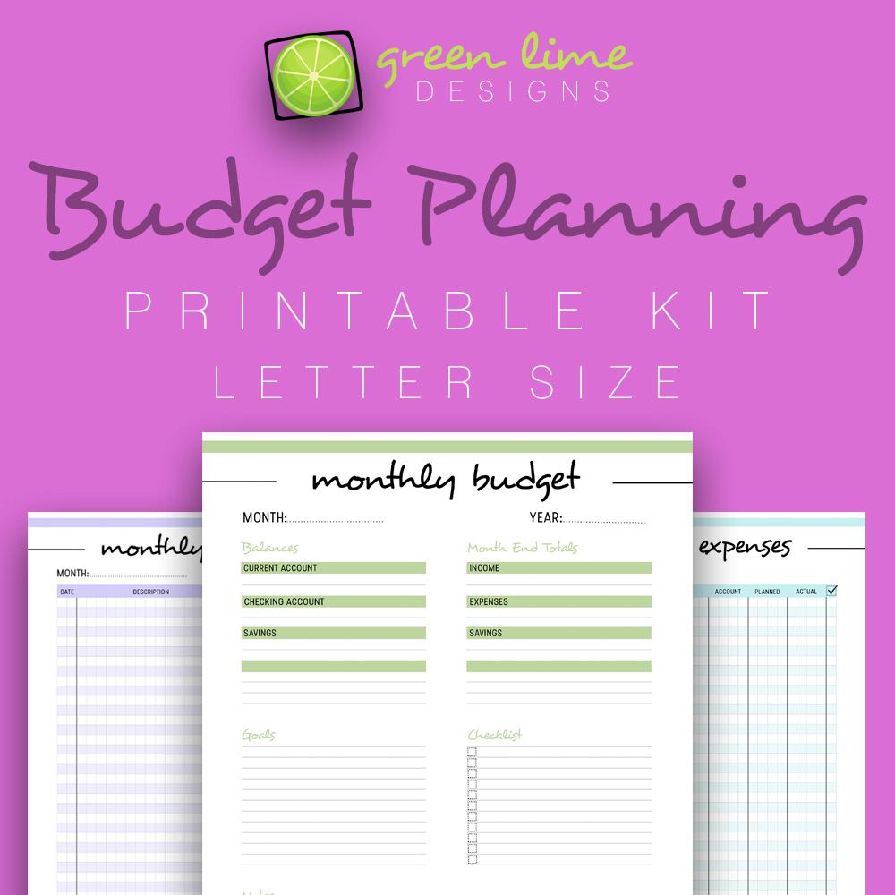 Budget Planning - Printable Kit