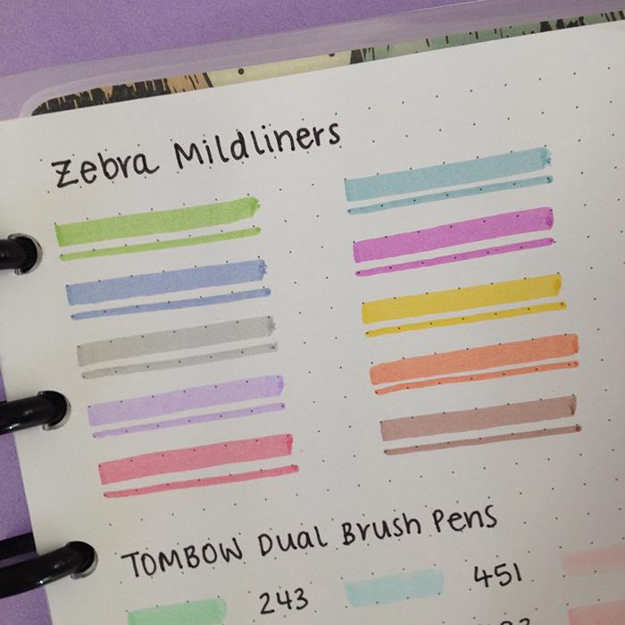 Zebra Mildliners Swatches - Janes Agenda.jpg