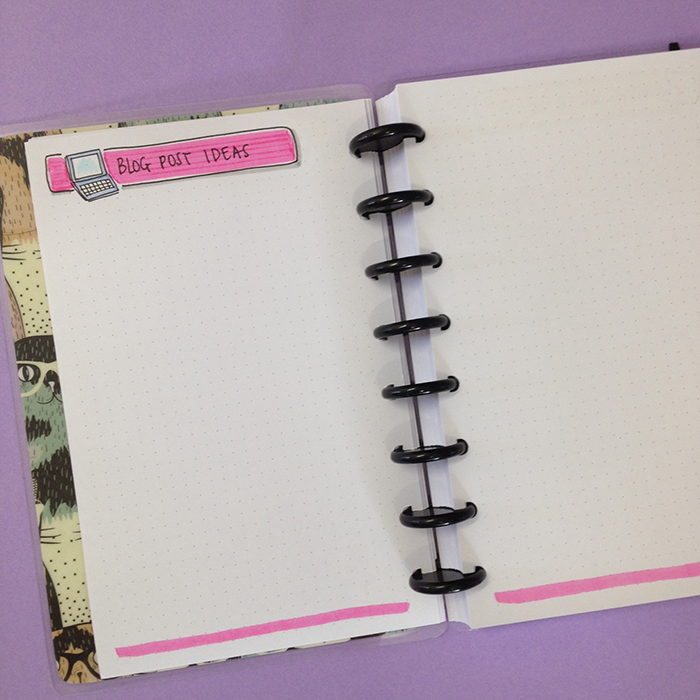 My Blog Bullet Journal Set Up - Blog Post Ideas List