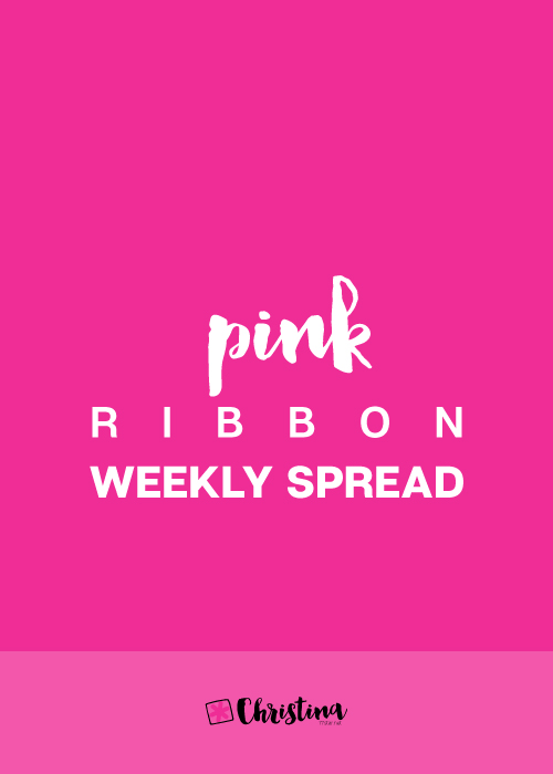 Pink Ribbon Weekly Spread